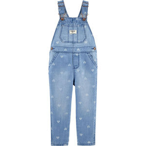 Oshkosh B'gosh 4T Girl Denim Overalls Sea Mist